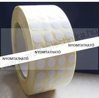 10mm fehér körcímke (10.000 db/tek)