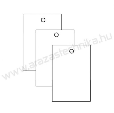 Függő címke 40×60mm / fehér / 200 db/csomag