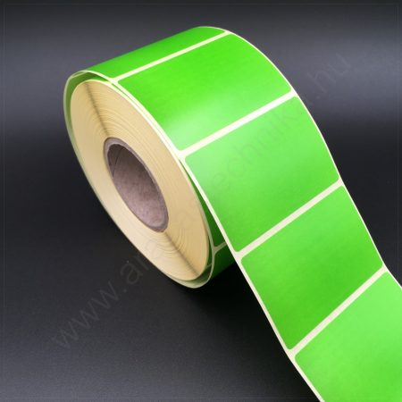 58×38mm THERMO - ZÖLD papír címke (1.000db/tekercs)