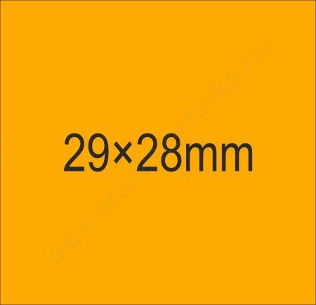 29x28mm METO árazócímke fluo narancs 700 db/tek háromsoros árazószalag