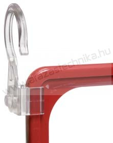 Keretrögzítő akasztó elfordítható 25mm csőre vagy fonott kosárra