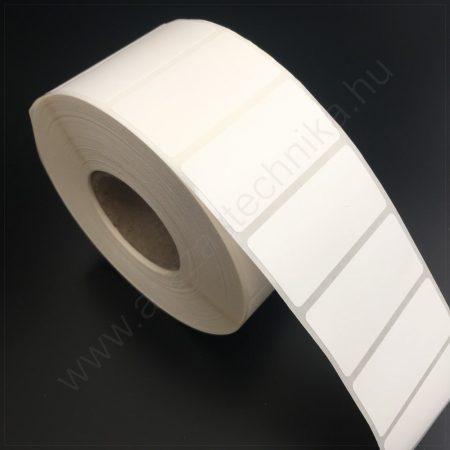 50×25 mm PE Matt WHITE műanyag öntapadós címke