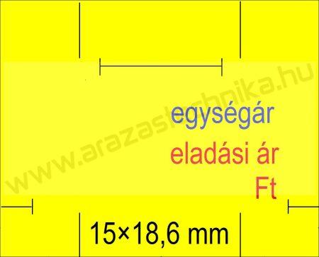 Monarch 1115 géphez 15x18,6mm citrom EÁ/EÁ feliratos árazócímke