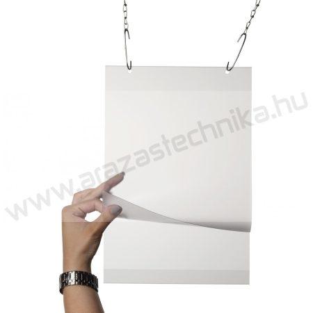 Plakáttok függeszthető lyukkal A3 méretű PVC laptartó