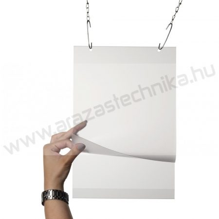 Plakáttok függeszthető lyukkal A4 méretű PVC laptartó