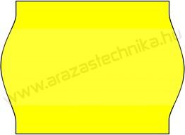 METO EC1622  / 22x16mm FLUO citrom árazószalag
