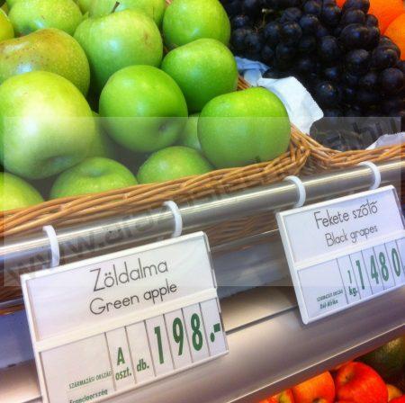 Árkazetta zöldségekhez 120×84mm fehér/zöld +kampó