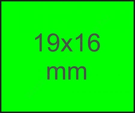 Meto EC1619 / 19x16mm FLUO ZÖLD eredeti METO árazócímke