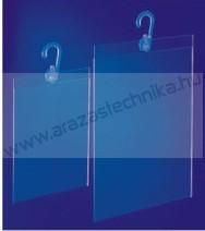 Laptok A4 álló plexi + kampó