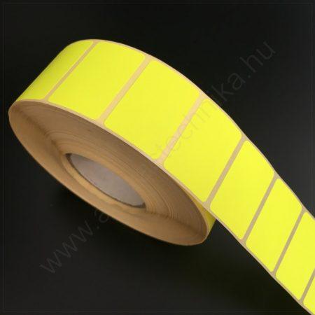 35×23 mm színes címke / visszaszedhető ragasztóval / FLUO CITROM