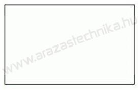 26x16mm eredeti OLASZ  fehér árazócímke  (1000 db/tek) - szögletes