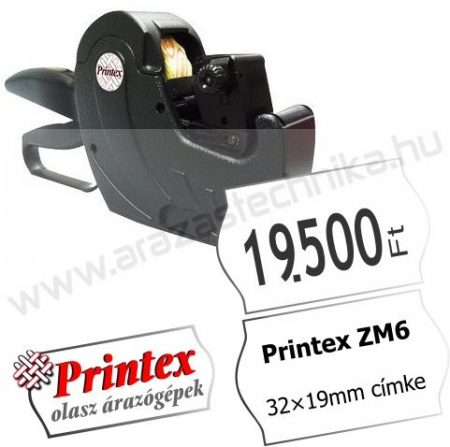 PRINTEX ZM6-3219 egysoros árazógép ( 32×19mm) 9mm magas óriás számok