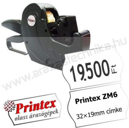PRINTEX ZM6 MAXI egysoros árazógép ( 32×19mm) 9mm magas óriás számok