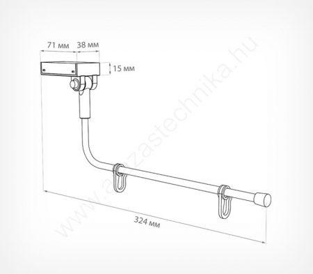 Zászló tartó, bannertartó 25 cm széles poszterhez (fehér - mágnes)