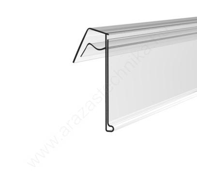 AKASZTÓS ársín drótkosárra - hűtőrácsra 4 cm × 985 mm (átlátszó hátlap)