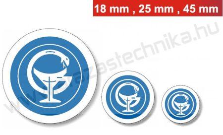 18mm szigillum / kék