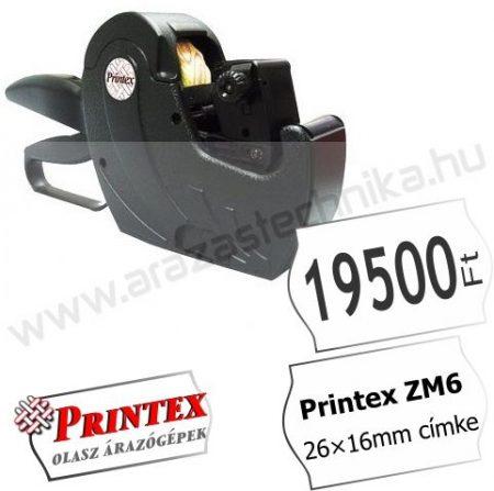 PRINTEX ZM6 MAXI egysoros árazógép ( 26×16 árazócímke )