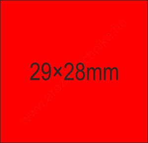 29x28mm FLUO piros árazócímke (700db/tek)
