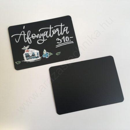 Fekete tábla A7 - folyékony krétával írható PVC lap (105×74mm)