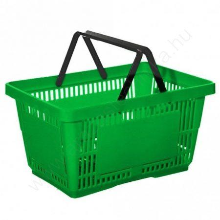 22 literes kézi bevásárló kosár - zöld