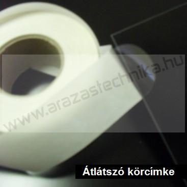 60mm átlátszó körcímke - PP CLEAR műanyag lezárócímke