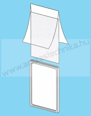 Plakátkeret fólia A3 PVC átlátszó