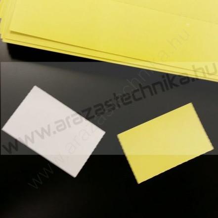 Inzert - Polccímke 65×38 mm (21db/A4) sárga/fehér