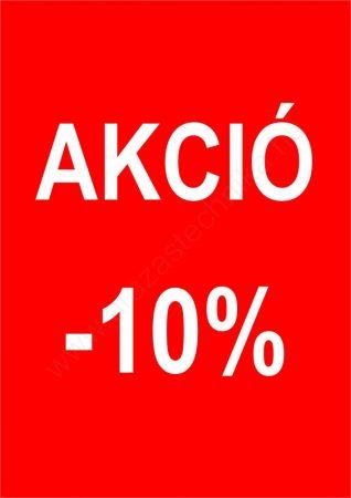 TÁBLA - A4 AKCIÓ feliratos  -10% -20% 30% -40% -50% -70%