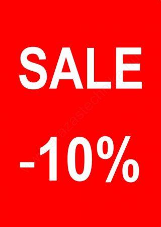 TÁBLA - A4 SALE feliratos -10% -20% -30% -40% -50% -70%