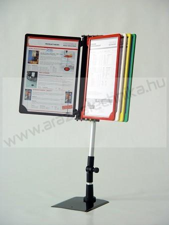 Lapozható 10db × A4 keret+PVC (dönthető szár)