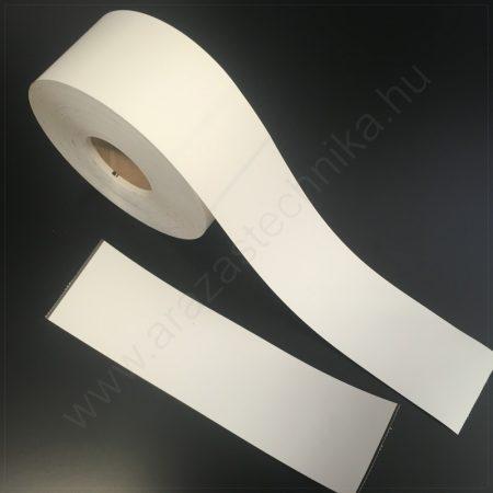 Kartoncímke 55×203 mm perforált + vezérlő jel (időjárásálló műanyag) nem öntapadós