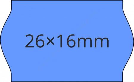 26x16mm KÉK ORIGINAL árazócímke (1.000db/tek)