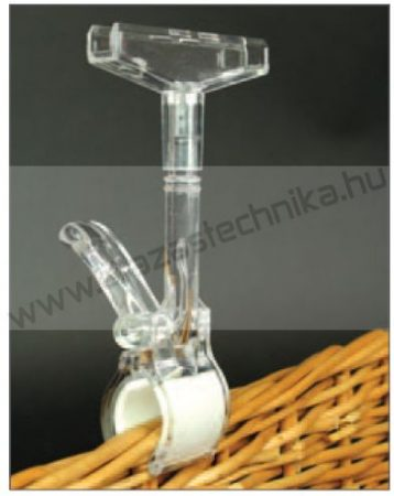 Keretrögzítő csipesz 15cm magas / max 4 cm vastag kosárra