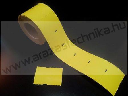 Polccímke (4 cm-es ársínhez) 55×38 mm thermo - citrom kartoncímke