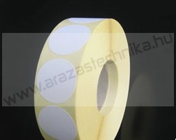 38 mm fehér körcímke (1.000 db/tek)