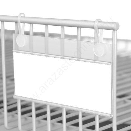 AKASZTÓS ársín drótkossárra - hűtőrácsra lengő akasztóval  méret: 40 × 80 mm