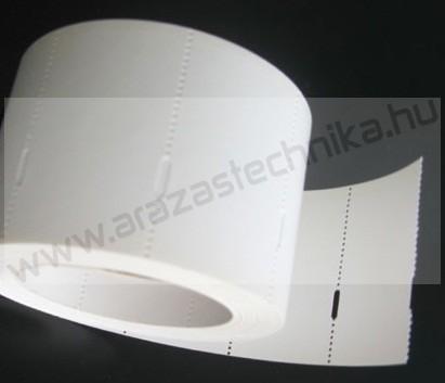 Polccímke (2 cm-es ársínhez) 40×18 mm THERMO - fehér kartoncímke (1.000db/tek)