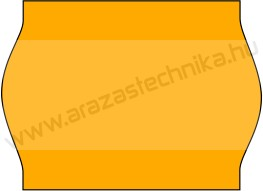 METO EC1622  / 22x16mm FLUO narancs árazószalag