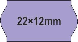 22x12mm árazócímke - lila - eredeti OLASZ (1400db/tek)