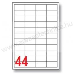 48,5×25,4mm 44 db/ív Rayfilm íves etikett címke [0203]