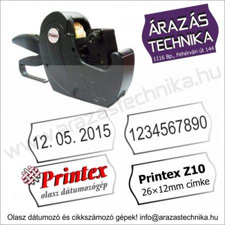 PRINTEX Z10 árazógép - dátumozó gép - 26×12mm címke