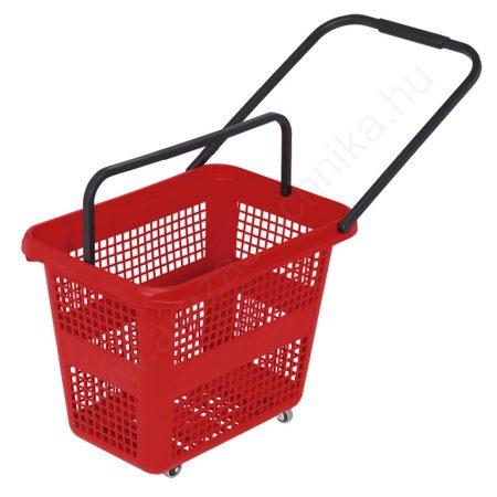 Gurulós bevásárló kosár 54 literes - piros