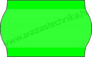 26x16mm FLUO zöld árazócímke - eredeti METO