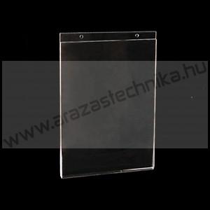 Laptok A4 fali akasztós - ÁLLÓ A4 - csavarozható plexi tábla (2db függesztő lyuk)