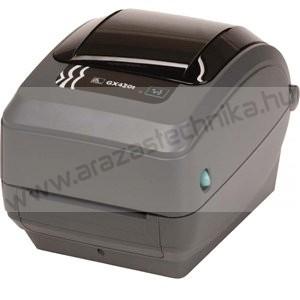 Zebra GX430t (TT) 300 dpi vonalkódnyomtató / thermal transfer címke nyomtató