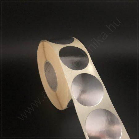 38 mm ezüst papír körcímke  1000 db / tekercs