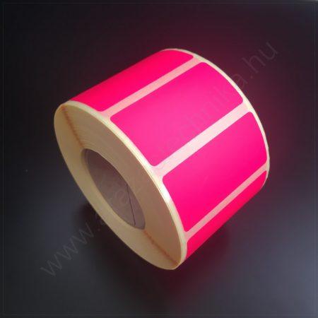 50×25 mm TT papír címke (1.000db/tek) - fluo MAGENTA