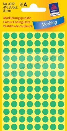 Jelölőpont -  8mm ( Avery 3179) fluo zöld