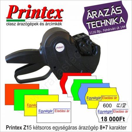 Printex Z15 árazógép