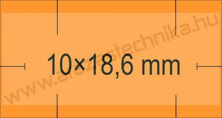 Monarch 1110 géphez 10x18,6mm narancs árazószalag